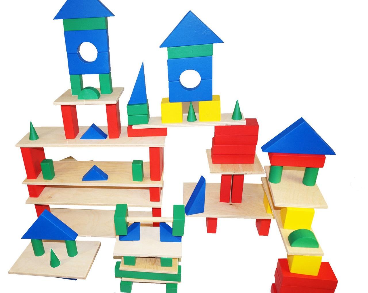 Схемы в детском саду из строительного материала