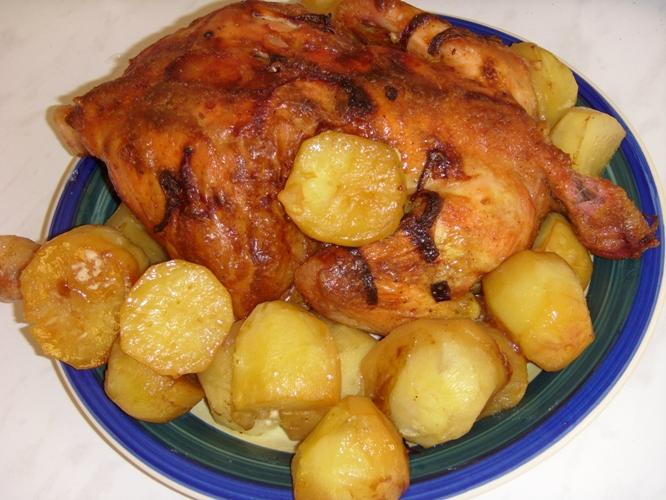 Цыплёнок с картошкой рецепт в духовке пошаговый рецепт