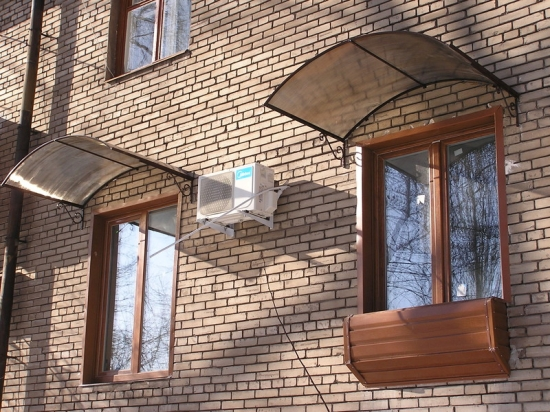 Как сделать навес над окном