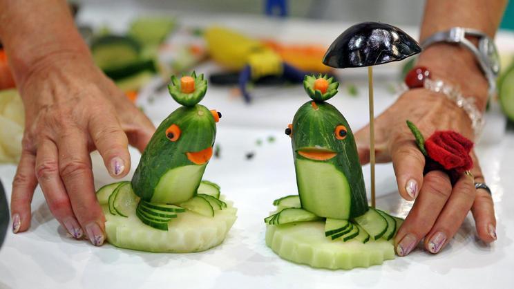 Животные из овощей своими руками фото