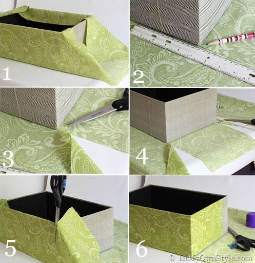 Мастер класс обклеивание коробки бумагой