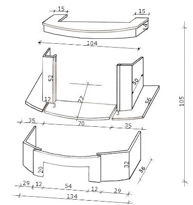 Схема сборки облицовки GLORIA