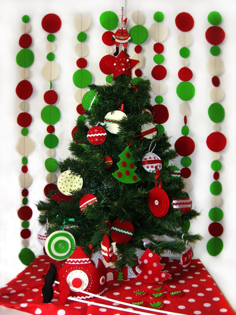 Гирлянда елка на новый год своими руками