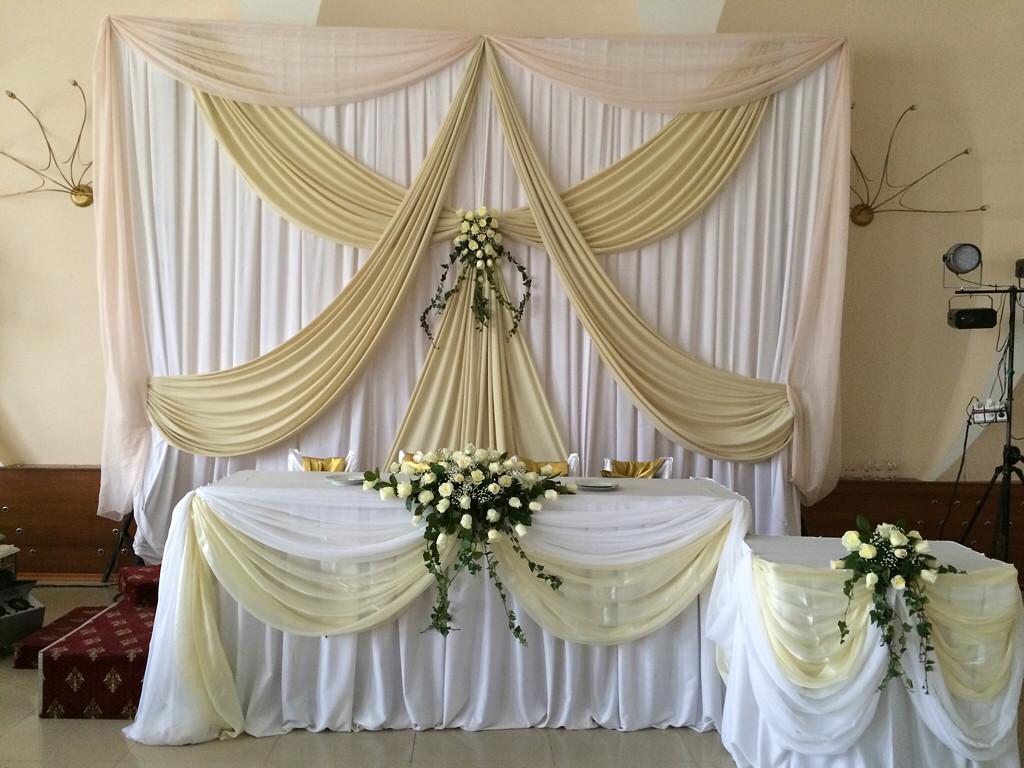 Свадебное оформление тканями своими руками 92