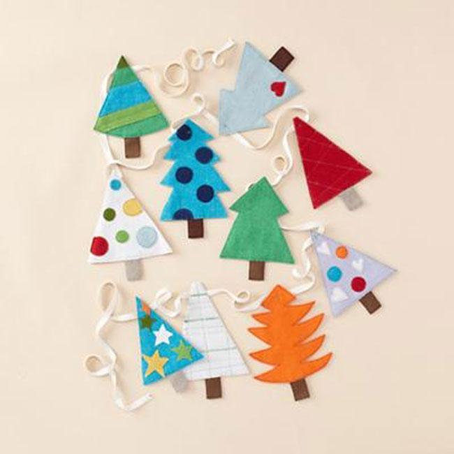 Гирлянды  из бумаги для детей новый год