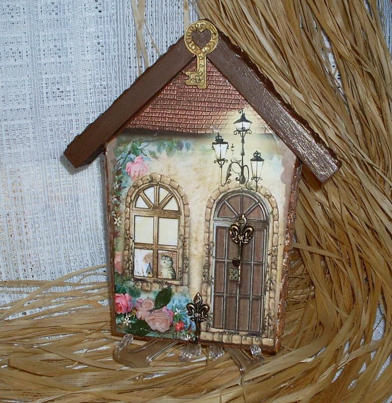 Ключница своими руками домик
