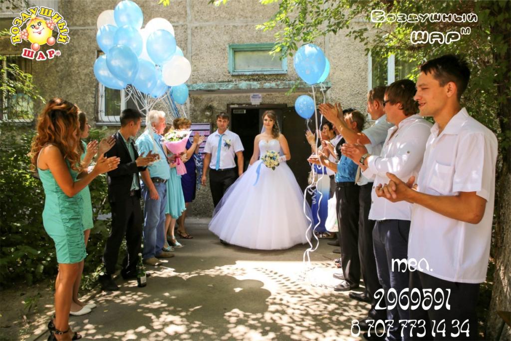 Украшения из шаров на свадьбу недорого