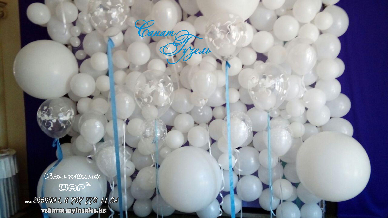 Стена из шаров своими руками 22