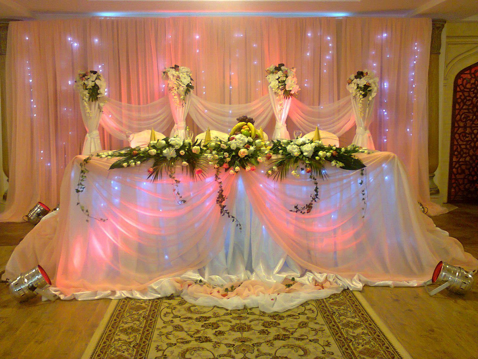 Оформление свадьбы тканью фото