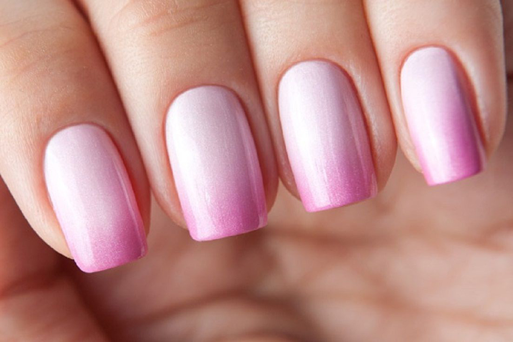 Омбре градиент на ногтях