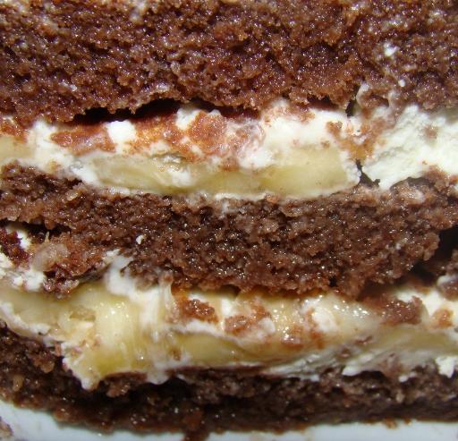 Пирог с банановой начинкой рецепт с фото в мультиварке