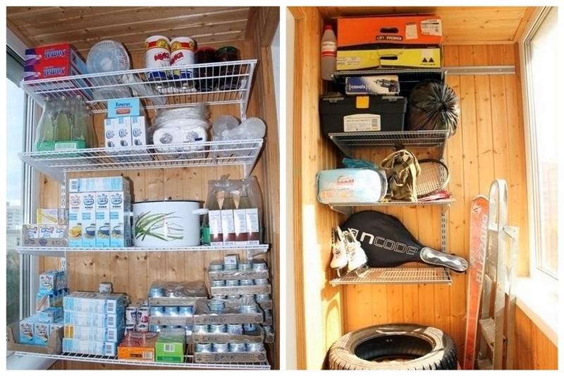 Хранение на балконе - варианты, идеи и лайфхаки * домик панд.