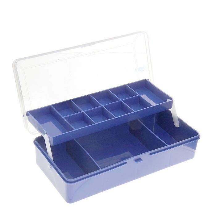 Коробка двухъярусная для крючков и лески (11 отделений)