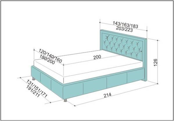 Кровать с мягкой спинкой своими руками чертежи