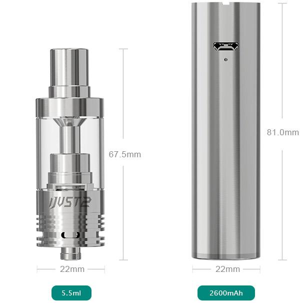 Размеры Ejeaf iJust 2 Kit
