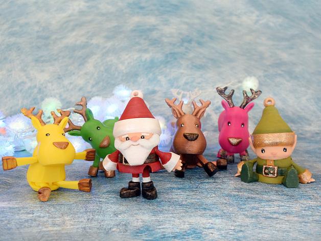 новогодние игрушки на 3D принтере