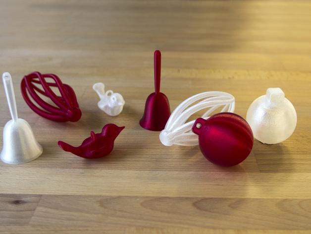 Модели ёлочных игрушек для 3D печати