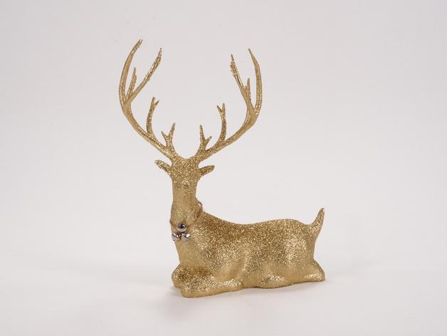 Новогодний олень на 3D принтере
