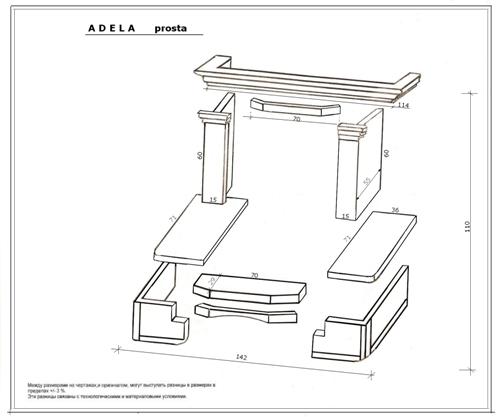 Схема сборки облицовки ADELA