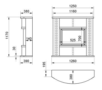 Схема сборки облицовки ARIANA