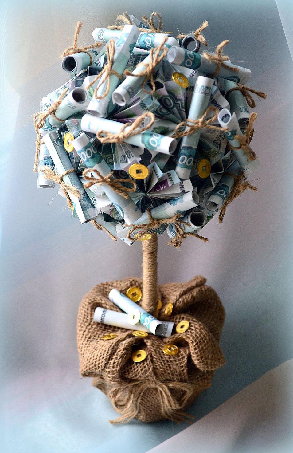 Денежное дерево своими руками мастер класс пошагово фото