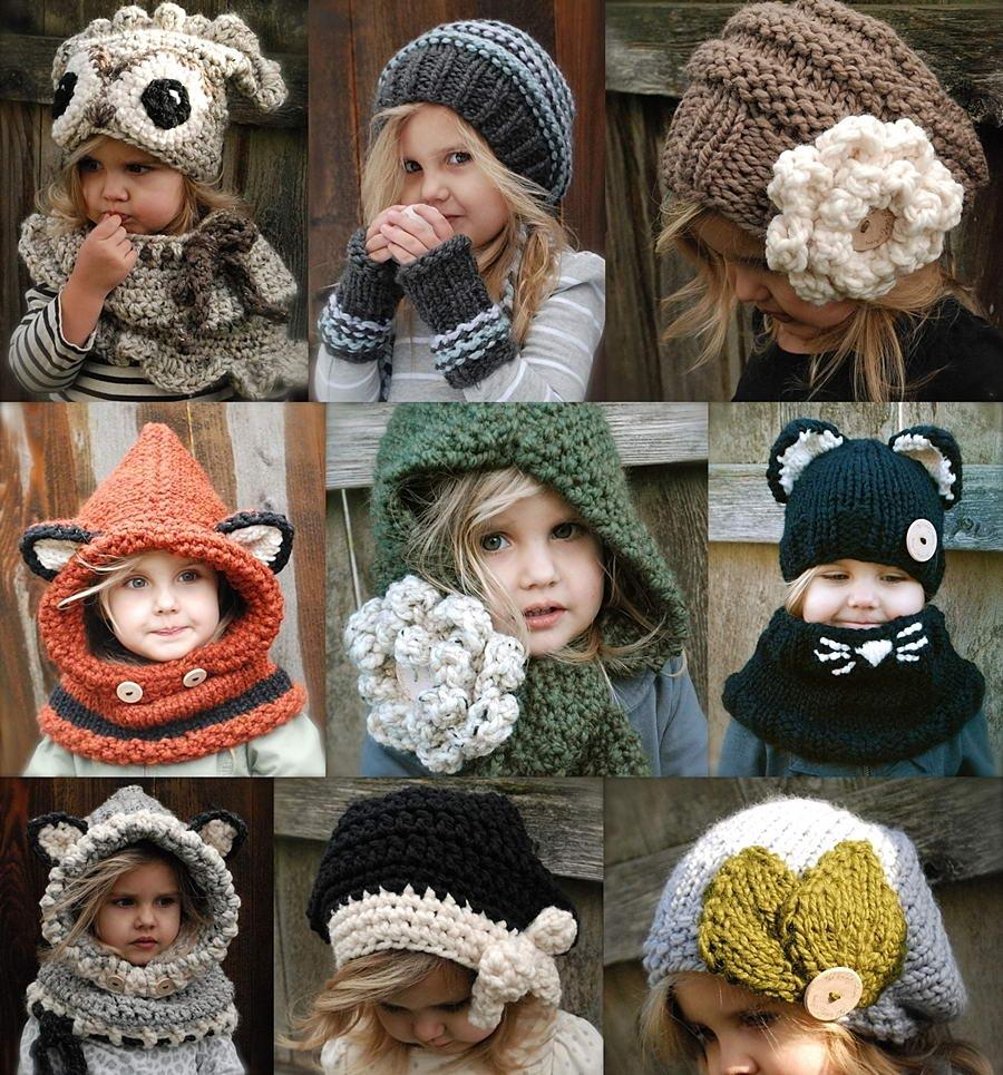 Оригинальная вязаная шапка своими руками
