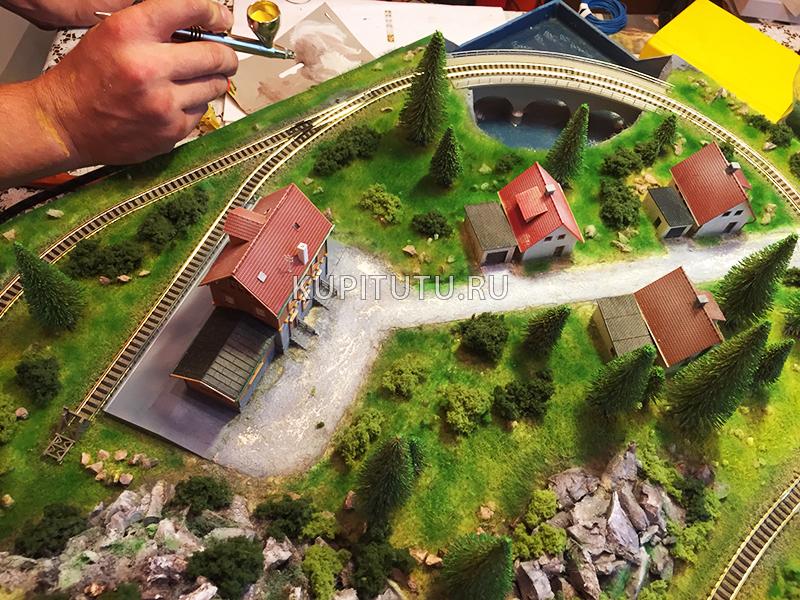 Как в домашних условиях сделать макет железной дороги в домашних условиях