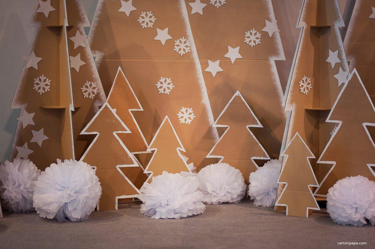 Ёлки из картона на новый год