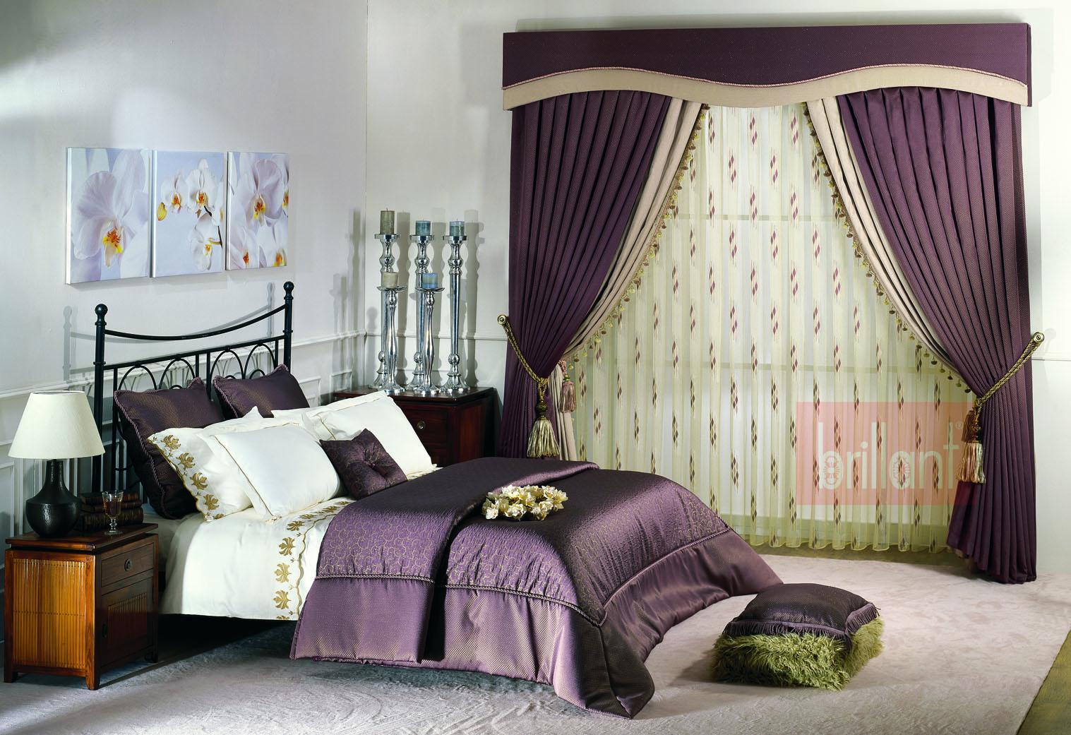 Покрывало и шторы для спальни дизайн 2017 года новинки