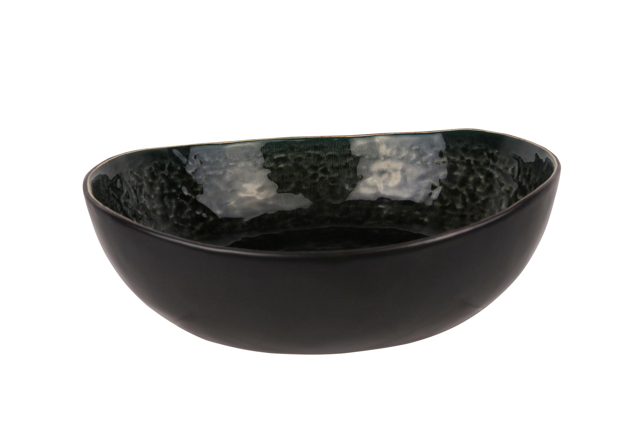 Миска 19х17,5х6 см COSY&amp;TRENDY Laguna verde 6970952Новинки<br>Миска 19х17,5х6 см COSY&amp;TRENDY Laguna verde 6970952<br><br>Эта коллекция из каменной керамики поражает удивительным цветом, текстурой и формой. Насыщенный темно-серый оттенок с волнистым рельефом погружают в прибрежную лагуну. Органические края для дополнительного дизайна. Коллекция Laguna Verde воссоздает исключительный внешний вид приготовленных блюд.<br>