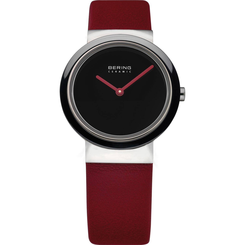 Bering 10729-642 - женские наручные часы из коллекции CeramicBering<br>женские, сапфировое стекло, корпус из нерж. стали с безелем из керамики черного цвета,  ремешок из кожи теленка коричневого цвета, циферблат черного цвета<br><br>Бренд: Bering<br>Модель: Bering 10729-642<br>Артикул: 10729-642<br>Вариант артикула: ber-10729-642<br>Коллекция: Ceramic<br>Подколлекция: None<br>Страна: Дания<br>Пол: женские<br>Тип механизма: кварцевые<br>Механизм: None<br>Количество камней: None<br>Автоподзавод: None<br>Источник энергии: от батарейки<br>Срок службы элемента питания: None<br>Дисплей: стрелки<br>Цифры: отсутствуют<br>Водозащита: WR 50<br>Противоударные: None<br>Материал корпуса: нерж. сталь + керамика<br>Материал браслета: кожа (теленок)<br>Материал безеля: керамика<br>Стекло: сапфировое<br>Антибликовое покрытие: None<br>Цвет корпуса: серебристый<br>Цвет браслета: красный<br>Цвет циферблата: None<br>Цвет безеля: черный<br>Размеры: 29 мм<br>Диаметр: 29 мм<br>Диаметр корпуса: None<br>Толщина: None<br>Ширина ремешка: None<br>Вес: None<br>Спорт-функции: None<br>Подсветка: None<br>Вставка: None<br>Отображение даты: None<br>Хронограф: None<br>Таймер: None<br>Термометр: None<br>Хронометр: None<br>GPS: None<br>Радиосинхронизация: None<br>Барометр: None<br>Скелетон: None<br>Дополнительная информация: None<br>Дополнительные функции: None