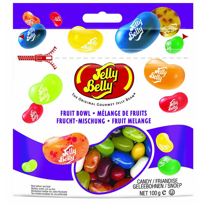 Конфеты Jelly Belly «Фруктовое ассорти» (100 гр.)Детям<br>Только фруктовые конфетки в вашей пачке! Вкусы Jelly Belly отличаются удивительным сходством с натуральными фруктами. Не даром конфеты Jelly Belly являются любимчиками у многих сладкоежек ;-)<br>Какие вкусы?<br>Мандарин, зеленое яблоко, голубика, кокос, вишня, лимон, красное яблоко, арбуз, слива, малина, персик, груша, розовый грейпфрут, виноград, спелый банан, лайм-лимон<br>Добавьте конфетки Jelly Belly сверху на пироженку, как украшение, и вы удивитесь, как вкусно преобразиться ваш кулинарный шедевр.<br>Вес: 100 гр.<br>