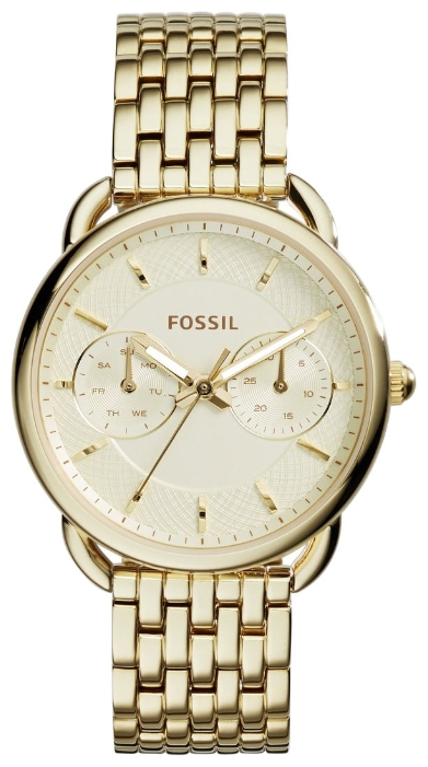 Fossil ES3714 - женские наручные часы из коллекции FashionFossil<br><br><br>Бренд: Fossil<br>Модель: Fossil ES3714<br>Артикул: ES3714<br>Вариант артикула: None<br>Коллекция: Fashion<br>Подколлекция: None<br>Страна: США<br>Пол: женские<br>Тип механизма: кварцевые<br>Механизм: None<br>Количество камней: None<br>Автоподзавод: None<br>Источник энергии: от батарейки<br>Срок службы элемента питания: None<br>Дисплей: стрелки<br>Цифры: отсутствуют<br>Водозащита: WR 50<br>Противоударные: None<br>Материал корпуса: нерж. сталь, IP покрытие: позолота (полное)<br>Материал браслета: нерж. сталь, IP покрытие (полное): позолота<br>Материал безеля: None<br>Стекло: минеральное<br>Антибликовое покрытие: None<br>Цвет корпуса: None<br>Цвет браслета: None<br>Цвет циферблата: None<br>Цвет безеля: None<br>Размеры: 35x10 мм<br>Диаметр: None<br>Диаметр корпуса: None<br>Толщина: None<br>Ширина ремешка: None<br>Вес: None<br>Спорт-функции: None<br>Подсветка: стрелок<br>Вставка: None<br>Отображение даты: число, день недели<br>Хронограф: None<br>Таймер: None<br>Термометр: None<br>Хронометр: None<br>GPS: None<br>Радиосинхронизация: None<br>Барометр: None<br>Скелетон: None<br>Дополнительная информация: None<br>Дополнительные функции: None