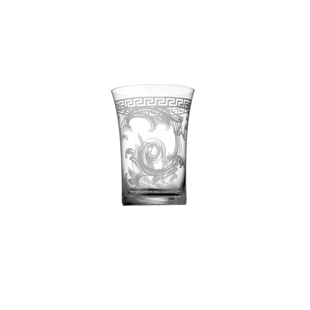 Стакан д/коктейлей большой Versace, Arabesque (Хрусталь и стекло Rosenthal)Хрусталь и стекло Rosenthal<br>Стакан д/коктейлей большой<br>Материал - хрусталь, пескоструйная гравировка<br>Декор Донателла Версаче<br>Производитель: Rosenthal, Германия<br>