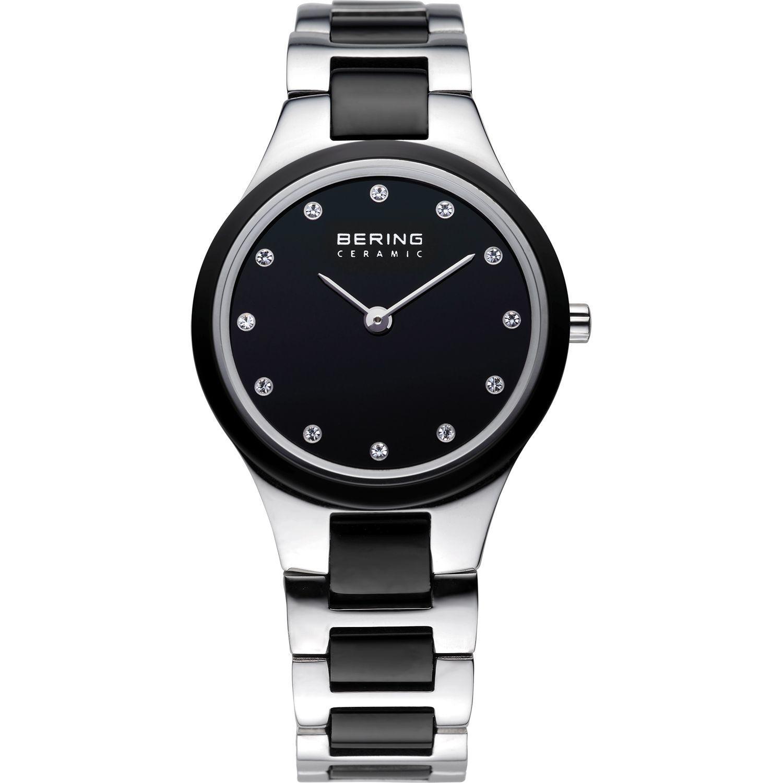 Bering 32327-742 - женские наручные часы из коллекции CeramicBering<br>женские, сапфировое стекло, корпус из нерж. стали с безелем из керамики черного цвета,  браслет из нерж. стали со вставками из керамики черного цвета, циферблат черного цвета с 12-ю кристаллами  swarovski<br><br>Бренд: Bering<br>Модель: Bering 32327-742<br>Артикул: 32327-742<br>Вариант артикула: ber-32327-742<br>Коллекция: Ceramic<br>Подколлекция: None<br>Страна: Дания<br>Пол: женские<br>Тип механизма: кварцевые<br>Механизм: None<br>Количество камней: None<br>Автоподзавод: None<br>Источник энергии: от батарейки<br>Срок службы элемента питания: None<br>Дисплей: стрелки<br>Цифры: отсутствуют<br>Водозащита: WR 50<br>Противоударные: None<br>Материал корпуса: нерж. сталь + керамика<br>Материал браслета: нерж. сталь + керамика<br>Материал безеля: керамика<br>Стекло: сапфировое<br>Антибликовое покрытие: None<br>Цвет корпуса: серебристый<br>Цвет браслета: серебрянный<br>Цвет циферблата: None<br>Цвет безеля: черный<br>Размеры: 27 мм<br>Диаметр: 27 мм<br>Диаметр корпуса: None<br>Толщина: None<br>Ширина ремешка: None<br>Вес: None<br>Спорт-функции: None<br>Подсветка: None<br>Вставка: кристаллы Swarovski<br>Отображение даты: None<br>Хронограф: None<br>Таймер: None<br>Термометр: None<br>Хронометр: None<br>GPS: None<br>Радиосинхронизация: None<br>Барометр: None<br>Скелетон: None<br>Дополнительная информация: None<br>Дополнительные функции: None