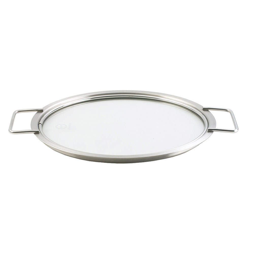 Крышка стеклянная 24 см Eva Solo 201024Крышки<br>Крышка стеклянная 24 см Eva Solo 201024<br><br>Удобная крышка с боковыми ручками позволит взглянуть по-новому на процесс готовки. Изящный дизайн из стали и стекла придётся к месту на любой кухне. Диаметр 24 см.<br>