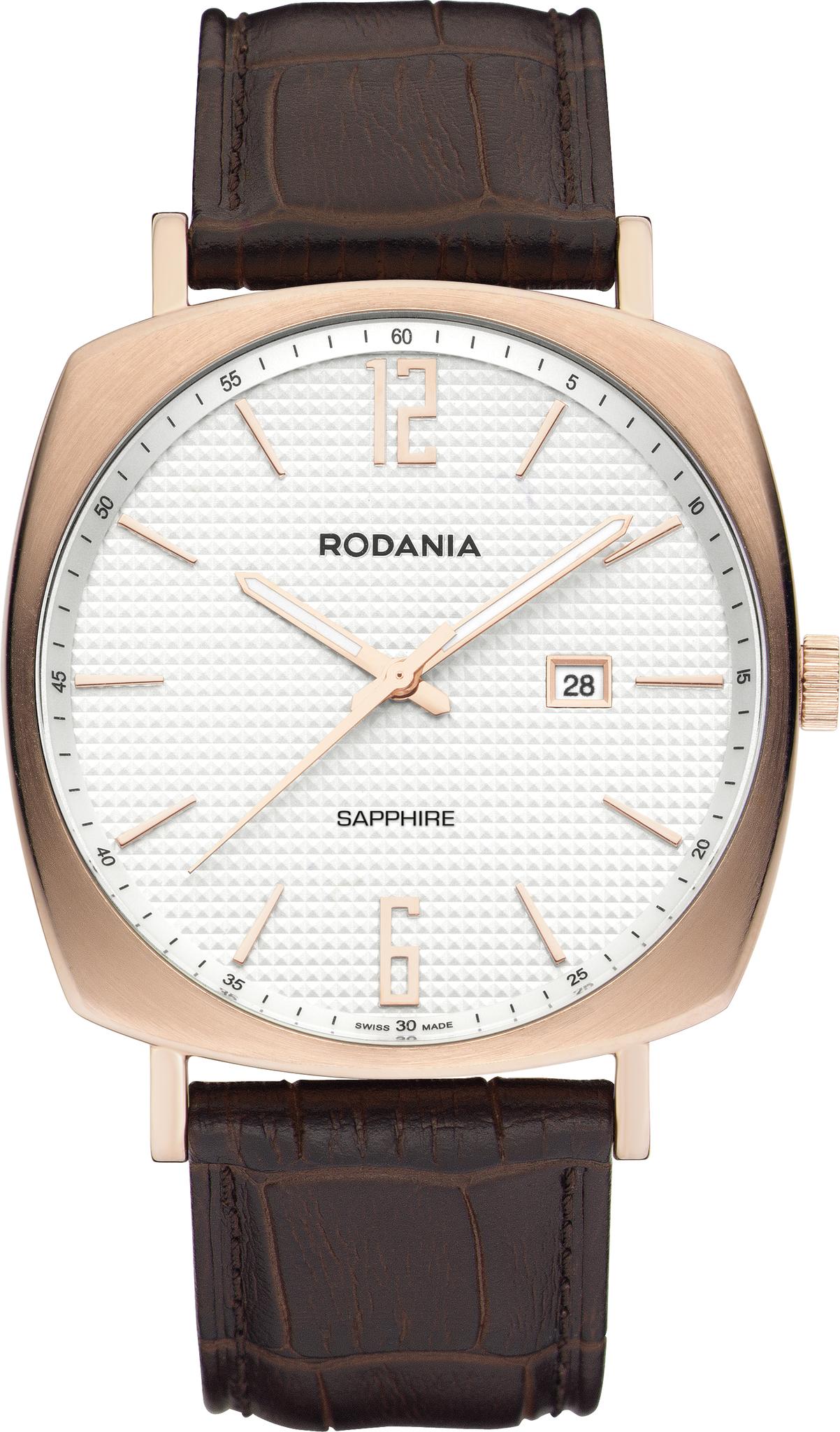 Rodania 25124.33 - мужские наручные часы из коллекции MONTREALRodania<br><br><br>Бренд: Rodania<br>Модель: Rodania 25124.33<br>Артикул: 25124.33<br>Вариант артикула: None<br>Коллекция: MONTREAL<br>Подколлекция: None<br>Страна: Швейцария<br>Пол: мужские<br>Тип механизма: кварцевые<br>Механизм: Ronda 505<br>Количество камней: None<br>Автоподзавод: None<br>Источник энергии: от батарейки<br>Срок службы элемента питания: None<br>Дисплей: стрелки<br>Цифры: арабские<br>Водозащита: WR 50<br>Противоударные: None<br>Материал корпуса: нерж. сталь, IP покрытие: позолота (полное)<br>Материал браслета: кожа (не указан)<br>Материал безеля: None<br>Стекло: сапфировое<br>Антибликовое покрытие: None<br>Цвет корпуса: None<br>Цвет браслета: None<br>Цвет циферблата: None<br>Цвет безеля: None<br>Размеры: 41 мм<br>Диаметр: None<br>Диаметр корпуса: None<br>Толщина: None<br>Ширина ремешка: None<br>Вес: None<br>Спорт-функции: None<br>Подсветка: стрелок<br>Вставка: None<br>Отображение даты: число<br>Хронограф: None<br>Таймер: None<br>Термометр: None<br>Хронометр: None<br>GPS: None<br>Радиосинхронизация: None<br>Барометр: None<br>Скелетон: None<br>Дополнительная информация: None<br>Дополнительные функции: None