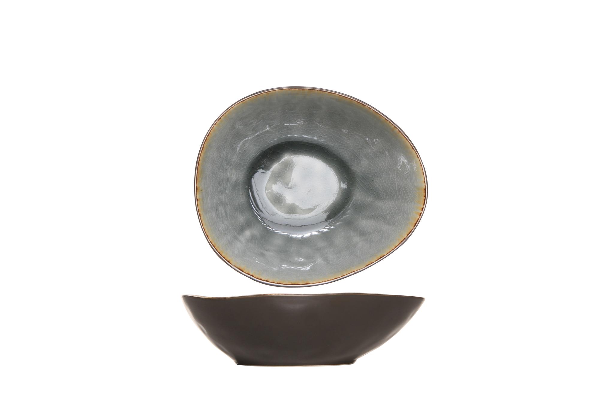 Миска 20х16,5х6 см COSY&amp;TRENDY Laguna blue-grey 5556319Новинки<br>Миска 20х16,5х6 см COSY&amp;TRENDY Laguna blue-grey 5556319<br><br>Эта коллекция из каменной керамики поражает удивительным цветом, текстурой и формой. Насыщенный ярко-серый оттенок с волнистым рельефом погружают в прибрежную лагуну. Органические края для дополнительного дизайна. Коллекция Laguna Blue-Grey воссоздает исключительный внешний вид приготовленных блюд.<br>