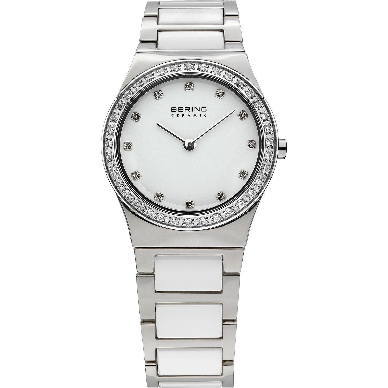 Bering 32430-754 - женские наручные часы из коллекции CeramicBering<br>женские, сапфировое стекло, корпус из нерж. стали, безель с 36-ю кристаллами из стекла белого цвета,  браслет из нерж. стали со вставками из керамики белого цвета, циферблат белого цвета с 12-ю кристаллами swarovski<br><br>Бренд: Bering<br>Модель: Bering 32430-754<br>Артикул: 32430-754<br>Вариант артикула: ber-32430-754<br>Коллекция: Ceramic<br>Подколлекция: None<br>Страна: Дания<br>Пол: женские<br>Тип механизма: кварцевые<br>Механизм: None<br>Количество камней: None<br>Автоподзавод: None<br>Источник энергии: от батарейки<br>Срок службы элемента питания: None<br>Дисплей: стрелки<br>Цифры: отсутствуют<br>Водозащита: WR 30<br>Противоударные: None<br>Материал корпуса: нерж. сталь<br>Материал браслета: нерж. сталь + керамика<br>Материал безеля: None<br>Стекло: сапфировое<br>Антибликовое покрытие: None<br>Цвет корпуса: серебристый<br>Цвет браслета: серебрянный<br>Цвет циферблата: None<br>Цвет безеля: None<br>Размеры: 30 мм<br>Диаметр: 30 мм<br>Диаметр корпуса: None<br>Толщина: None<br>Ширина ремешка: None<br>Вес: None<br>Спорт-функции: None<br>Подсветка: None<br>Вставка: кристаллы Swarovski<br>Отображение даты: None<br>Хронограф: None<br>Таймер: None<br>Термометр: None<br>Хронометр: None<br>GPS: None<br>Радиосинхронизация: None<br>Барометр: None<br>Скелетон: None<br>Дополнительная информация: None<br>Дополнительные функции: None