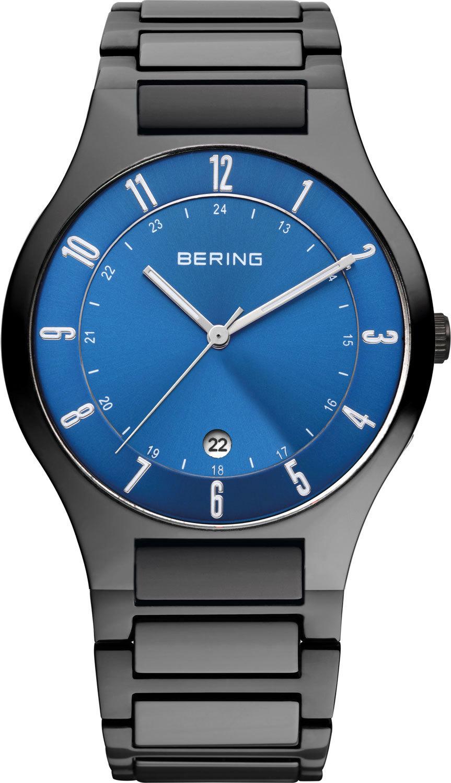 Bering 11739-727 - мужские наручные часы из коллекции TitaniumBering<br>full titanium, мужские, сапфировое стекло, корпус из титана, браслет из титана, циферблат синий, центральная секундная стрелка, с числовым календарем<br><br>Бренд: Bering<br>Модель: Bering 11739-727<br>Артикул: 11739-727<br>Вариант артикула: ber-11739-727<br>Коллекция: Titanium<br>Подколлекция: None<br>Страна: Дания<br>Пол: мужские<br>Тип механизма: кварцевые<br>Механизм: None<br>Количество камней: None<br>Автоподзавод: None<br>Источник энергии: от батарейки<br>Срок службы элемента питания: None<br>Дисплей: стрелки<br>Цифры: арабские<br>Водозащита: WR 50<br>Противоударные: None<br>Материал корпуса: титан, PVD покрытие (полное)<br>Материал браслета: титан + керамика, PVD покрытие (полное)<br>Материал безеля: None<br>Стекло: сапфировое<br>Антибликовое покрытие: None<br>Цвет корпуса: черный<br>Цвет браслета: черный<br>Цвет циферблата: None<br>Цвет безеля: None<br>Размеры: 39 мм<br>Диаметр: 39 мм<br>Диаметр корпуса: None<br>Толщина: None<br>Ширина ремешка: None<br>Вес: None<br>Спорт-функции: None<br>Подсветка: стрелок<br>Вставка: None<br>Отображение даты: число<br>Хронограф: None<br>Таймер: None<br>Термометр: None<br>Хронометр: None<br>GPS: None<br>Радиосинхронизация: None<br>Барометр: None<br>Скелетон: None<br>Дополнительная информация: None<br>Дополнительные функции: None