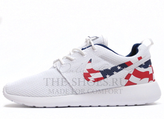 Кроссовки Мужские Nike Roshe Run White USA