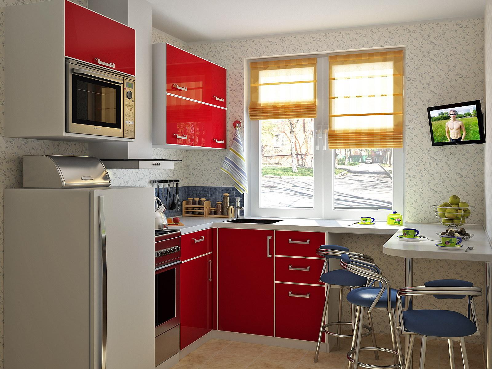 Кухонная мебель для маленькой кухни фото своими руками