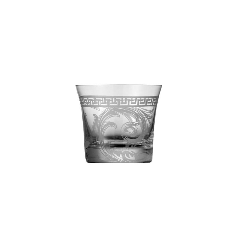 Стакан для виски Versace, Arabesque (Хрусталь и стекло Rosenthal)Хрусталь и стекло Rosenthal<br>Стакан для виски<br>Материал - хрусталь, пескоструйная гравировка<br>Декор Донателла Версаче<br>Производитель: Rosenthal, Германия<br>