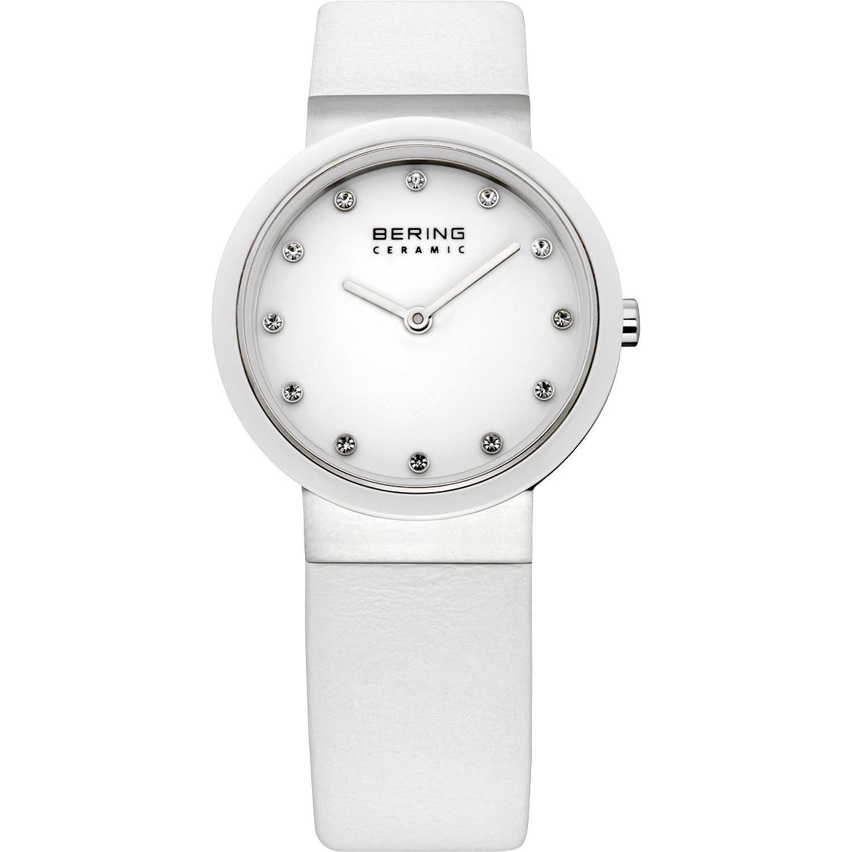 Bering 10729-854 - женские наручные часы из коллекции CeramicBering<br>женские, сапфировое стекло, корпус из нерж. стали с безелем из керамики белого цвета,  ремешок из кожи теленка белого цвета, циферблат белого цвета с 12-ю кристаллами  swarovski<br><br>Бренд: Bering<br>Модель: Bering 10729-854<br>Артикул: 10729-854<br>Вариант артикула: ber-10729-854<br>Коллекция: Ceramic<br>Подколлекция: None<br>Страна: Дания<br>Пол: женские<br>Тип механизма: кварцевые<br>Механизм: None<br>Количество камней: None<br>Автоподзавод: None<br>Источник энергии: от батарейки<br>Срок службы элемента питания: None<br>Дисплей: стрелки<br>Цифры: отсутствуют<br>Водозащита: WR 50<br>Противоударные: None<br>Материал корпуса: нерж. сталь + керамика<br>Материал браслета: кожа (теленок)<br>Материал безеля: керамика<br>Стекло: сапфировое<br>Антибликовое покрытие: None<br>Цвет корпуса: серебристый<br>Цвет браслета: белый<br>Цвет циферблата: None<br>Цвет безеля: белый<br>Размеры: 29 мм<br>Диаметр: 29 мм<br>Диаметр корпуса: None<br>Толщина: None<br>Ширина ремешка: None<br>Вес: None<br>Спорт-функции: None<br>Подсветка: None<br>Вставка: кристаллы Swarovski<br>Отображение даты: None<br>Хронограф: None<br>Таймер: None<br>Термометр: None<br>Хронометр: None<br>GPS: None<br>Радиосинхронизация: None<br>Барометр: None<br>Скелетон: None<br>Дополнительная информация: None<br>Дополнительные функции: None