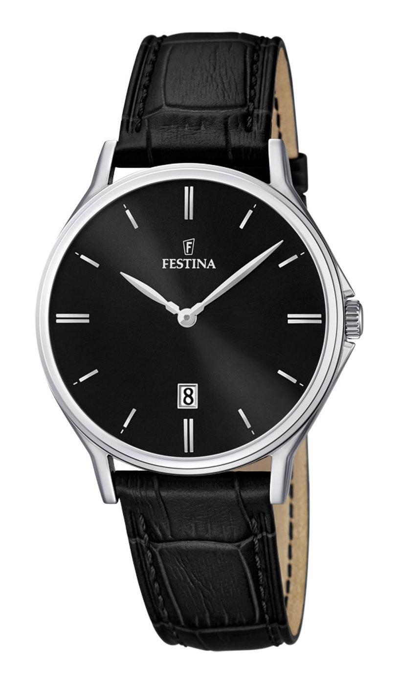 Festina F16745.5 - мужские наручные часы из коллекции ClassicFestina<br><br><br>Бренд: Festina<br>Модель: Festina F16745/5<br>Артикул: F16745.5<br>Вариант артикула: None<br>Коллекция: Classic<br>Подколлекция: None<br>Страна: Испания<br>Пол: мужские<br>Тип механизма: кварцевые<br>Механизм: None<br>Количество камней: None<br>Автоподзавод: None<br>Источник энергии: от батарейки<br>Срок службы элемента питания: None<br>Дисплей: стрелки<br>Цифры: отсутствуют<br>Водозащита: WR 50<br>Противоударные: None<br>Материал корпуса: нерж. сталь<br>Материал браслета: кожа (не указан)<br>Материал безеля: None<br>Стекло: сапфировое<br>Антибликовое покрытие: None<br>Цвет корпуса: None<br>Цвет браслета: None<br>Цвет циферблата: None<br>Цвет безеля: None<br>Размеры: 39.2 мм<br>Диаметр: None<br>Диаметр корпуса: None<br>Толщина: None<br>Ширина ремешка: None<br>Вес: None<br>Спорт-функции: None<br>Подсветка: стрелок<br>Вставка: None<br>Отображение даты: число<br>Хронограф: None<br>Таймер: None<br>Термометр: None<br>Хронометр: None<br>GPS: None<br>Радиосинхронизация: None<br>Барометр: None<br>Скелетон: None<br>Дополнительная информация: None<br>Дополнительные функции: None