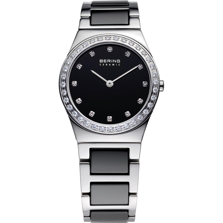Bering 32430-742 - женские наручные часы из коллекции CeramicBering<br>женские, сапфировое стекло, корпус из нерж. стали, безель с 36-ю кристаллами из стекла белого цвета,  браслет из нерж. стали со вставками из керамики черного цвета, циферблат черного цвета с 12-ю кристаллами swarovski<br><br>Бренд: Bering<br>Модель: Bering 32430-742<br>Артикул: 32430-742<br>Вариант артикула: ber-32430-742<br>Коллекция: Ceramic<br>Подколлекция: None<br>Страна: Дания<br>Пол: женские<br>Тип механизма: кварцевые<br>Механизм: None<br>Количество камней: None<br>Автоподзавод: None<br>Источник энергии: от батарейки<br>Срок службы элемента питания: None<br>Дисплей: стрелки<br>Цифры: отсутствуют<br>Водозащита: WR 30<br>Противоударные: None<br>Материал корпуса: нерж. сталь<br>Материал браслета: нерж. сталь + керамика<br>Материал безеля: None<br>Стекло: сапфировое<br>Антибликовое покрытие: None<br>Цвет корпуса: серебристый<br>Цвет браслета: серебрянный<br>Цвет циферблата: None<br>Цвет безеля: None<br>Размеры: 30 мм<br>Диаметр: 30 мм<br>Диаметр корпуса: None<br>Толщина: None<br>Ширина ремешка: None<br>Вес: None<br>Спорт-функции: None<br>Подсветка: None<br>Вставка: кристаллы Swarovski<br>Отображение даты: None<br>Хронограф: None<br>Таймер: None<br>Термометр: None<br>Хронометр: None<br>GPS: None<br>Радиосинхронизация: None<br>Барометр: None<br>Скелетон: None<br>Дополнительная информация: None<br>Дополнительные функции: None
