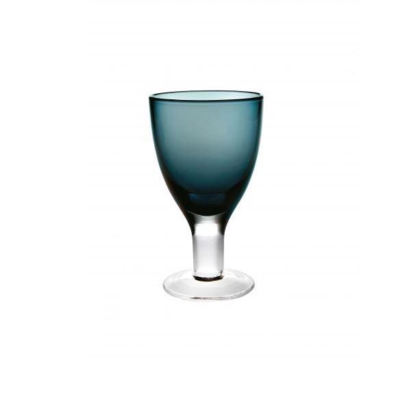 Бокал для вина синий Стекло Casa Alegre, Португалия<br>Бокал для вина синий Серия Cheerful/Веселый<br>Высота 142 мм, емкость 220 мл<br>Бренд: Casa Alegre<br>Производитель: Vista Alegre Atlantis, Португалия<br>