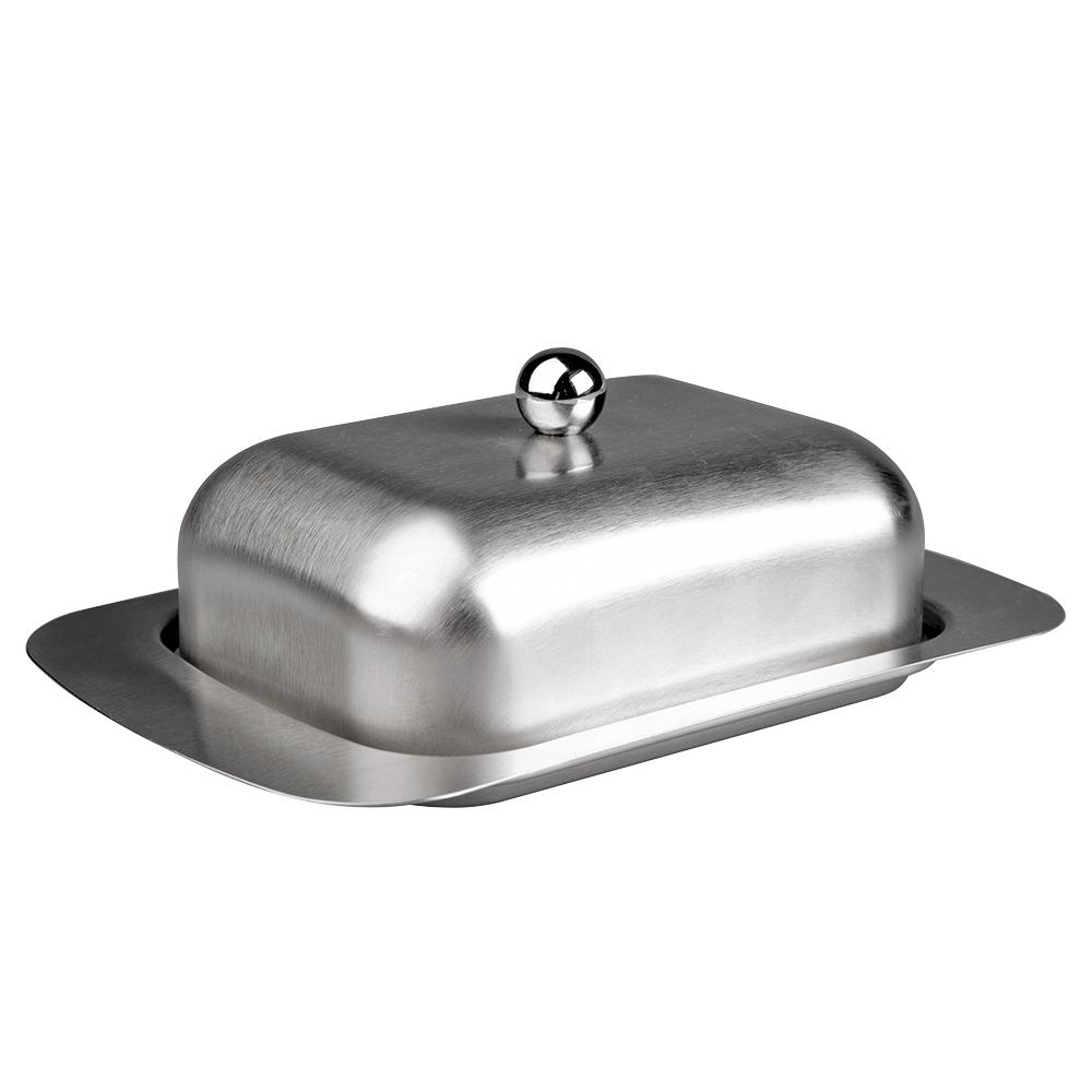Маслёнка 19 х 12 см, сталь IBILI Prisma арт. 722900Масленки<br>вид упаковки:подарочнаявысота (см):7.0диаметр (см):19.0материал:нержавеющая стальпредметов в наборе (штук):1ручки:фиксированныестрана:Испания<br><br>Крышки из жароустойчивого стекла серии Prisma от Ibili отличаются стильным дизайном, эргономичными ручками, великолепным исполнением и непревзойденным удобством в эксплуатации. Любое изделие линейки Prisma — это современные инновации в сочетании с оригинальным воплощением смелых творческих идей. Все крышки выполнены из безопасных и качественных материалов, не оказывающих негативного влияния на здоровье человека или окружающую среду.<br>Круглые крышки коллекции Prisma идеально подойдут к сковородам соответствующего диаметра из любых коллекций бренда Ibili. Они плотно накрывают сковороду, а крупная ручка удобно ложится в руку.<br>Официальный продавец IBILI<br>