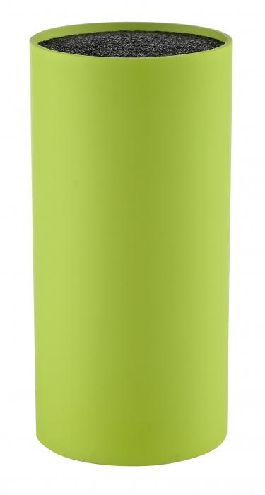 Подставка для ножей ZONE GOURMET CONFETTI 331027Подставки для ножей с наполнителем<br>Яркая лаймовая подставка для ножей из полипропилена. Гладкое, нетоксичное покрытие не повердит лезвия ножей и сохранит их в идеальном состоянии до следующего использования. Вмещает сразу несколько стандартных ножей.<br>