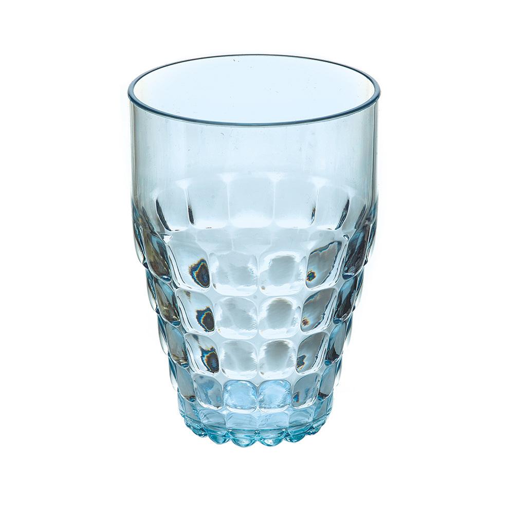 Бокал Guzzini Tiffany голубой 22570181Бокалы и стаканы<br>Бокал Guzzini Tiffany голубой 22570181<br><br>Легкий и яркий дизайн бокала Tiffany будто намекает на освежающие лимонады, бодрящие соки и цитрусовые коктейли. Отличается конической формой и прозрачным материалом, который придает бокалу характерный блеск. Сверкающий эффект усиливается на солнечном свету, поэтому бокал станет отличным решением для подачи напитков на свежем воздухе. Идеально подойдет для использования каждый день - добавит яркий акцент пространству кухни или гостиной.  Объем бокала - 510 мл. Изготовлен из высококачественного органического стекла, устойчивого к износу и повреждениям. Не содержит вредных примесей и бисфенола-А. Можно мыть в посудомоечной машине.<br>Официальный продавец<br>